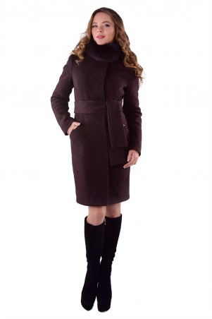 Modus: Пальто «Луара Лайт Шерсть Зима Песец» 4638 - главное фото