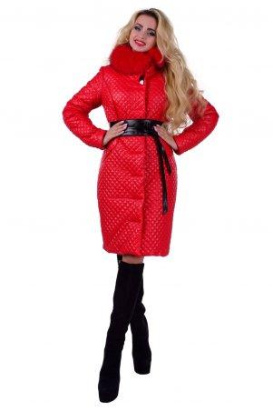 Modus: Пальто «Андрия Стеганое Песец Зима» 6648 - главное фото
