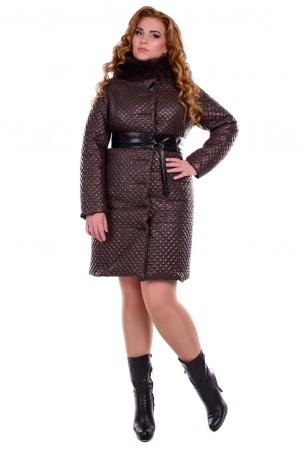 Modus: Пальто «Андрия Donna Стеганое Песец Зима» 6658 - главное фото