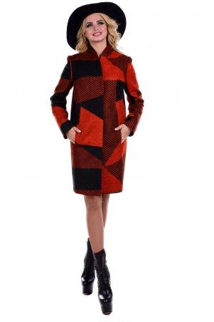 Modus: Пальто «Марис Шерсть Принт Первая Полнота» 6800 - главное фото
