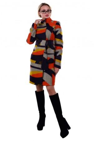 Modus: Пальто «Луара Стойка Шерсть Принт» 6996 - главное фото
