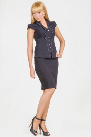 GHAZEL: Блуза Рюша 11234 - главное фото