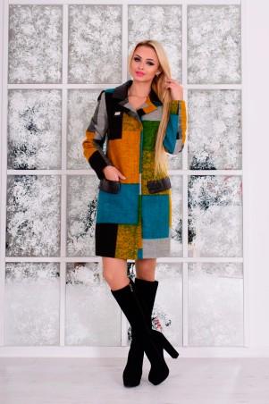 Modus: Пальто «Микадо Принт Шерсть» 7317 - главное фото