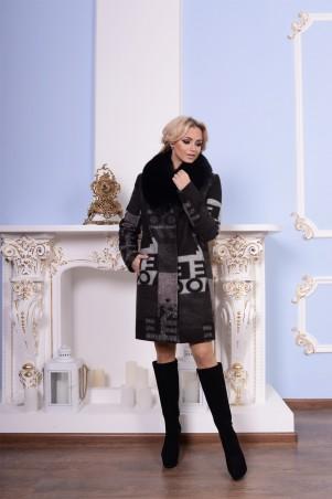 Modus: Пальто «Марис Шерсть Принт Песец Зима» 7517 - главное фото