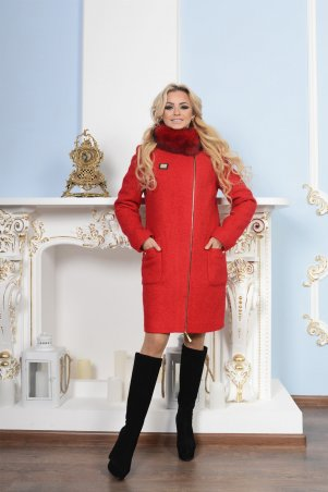 Modus: Пальто «Милтон  Букле Крупное Песец Зима» 7654 - главное фото