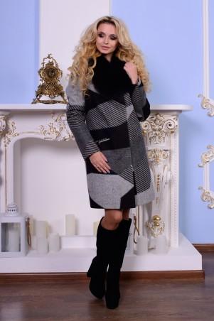 Modus: Пальто «Микадо Принт Шерсть Песец» 7502 - главное фото