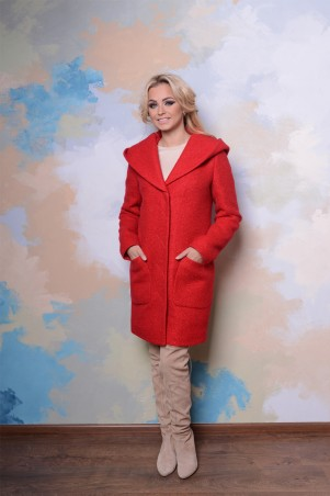 Modus: Пальто «Делфи Букле Крупное Зима» 7525 - главное фото