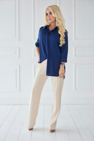 Lux Look: Рубашка Янель Шелк Синий Рубашка Янель Шелк 300 - главное фото
