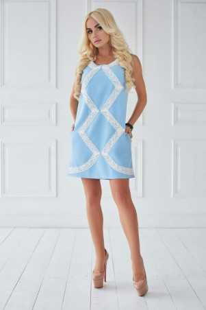 Lux Look: Платье  Зигзак Голубой Платье Зигзак 307 - главное фото