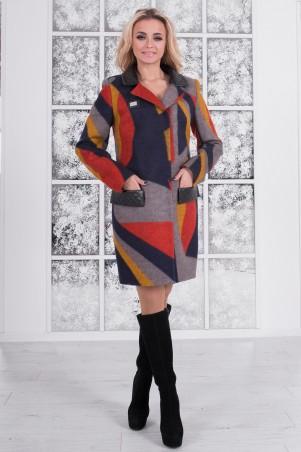 Modus: Пальто «Микадо Принт Шерсть» 7316 - главное фото