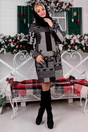 Modus: Пальто «Фортуна Лайт Шерсть Принт Хомут Зима» 8061 - главное фото