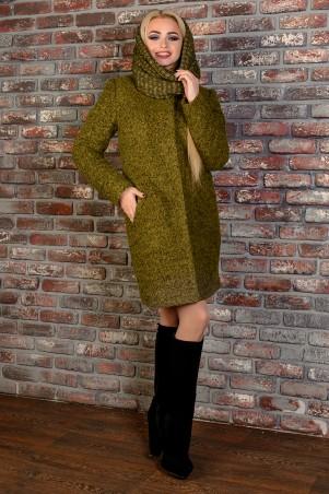 Modus: Пальто «Фортуна Лайт Букле Крупное Хомут Зима» 7222 - главное фото