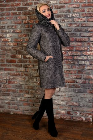 Modus: Пальто «Сплит Букле Мелкое Хомут Зима» 8066 - главное фото