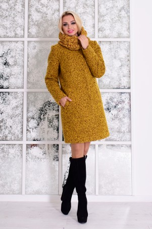 Modus: Пальто «Фортуна Лайт Букле Крупное Хомут Зима» 7220 - главное фото