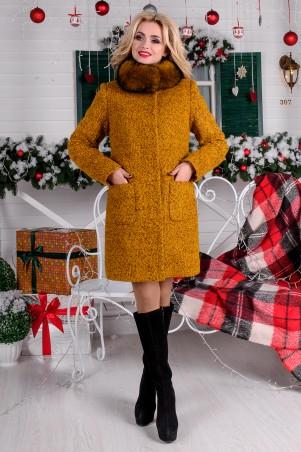 Modus: Пальто «Мелини Букле Крупное Песец Зима» 7783 - главное фото