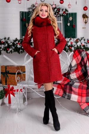 Modus: Пальто «Сплит Букле Крупное Зима Песец» 8283 - главное фото