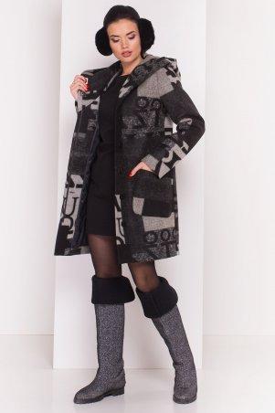 Modus: Пальто «Делфи Шерсть Принт Зима Б/м» 8310 - главное фото
