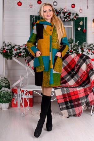 Modus: Пальто «Делфи Шерсть Принт Зима Б/м» 8312 - главное фото