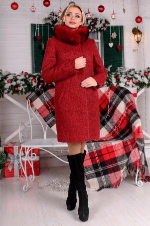Modus: Пальто «Фортуна Лайт Букле Крупное Зима Песец» 8241 - главное фото