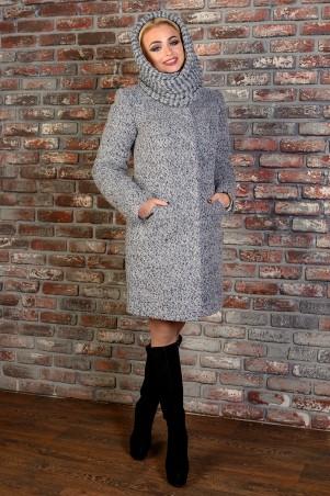Modus: Пальто «Сплит Букле Крупное Зима Хомут» 8276 - главное фото