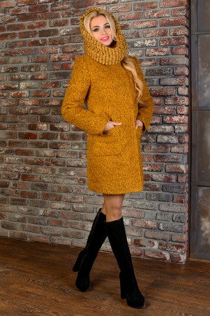 Modus: Пальто «Мелини Букле Крупное Зима Хомут» 8365 - главное фото