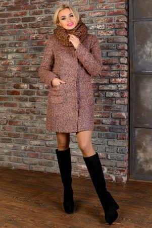 Modus: Пальто «Мелини Букле Крупное Зима Хомут» 8374 - главное фото