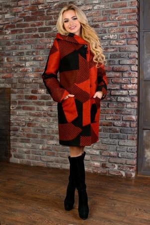 Modus: Пальто «Делфи Шерсть Принт Зима Б/м» 8313 - главное фото