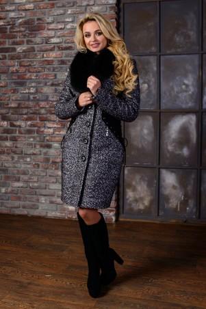 Modus: Пальто «Силуэт Букле Крупное Песец Зима» 7928 - главное фото
