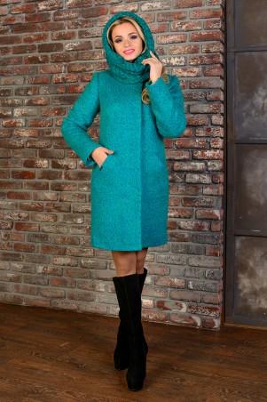 Modus: Пальто «Сплит Букле Крупное Зима Хомут» 8411 - главное фото