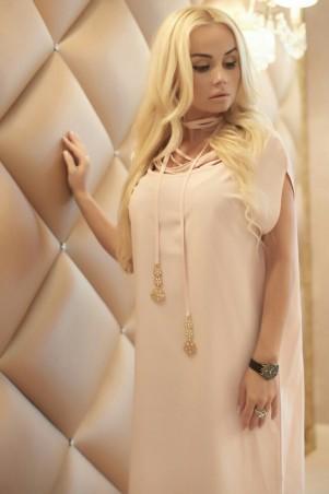 "Lux Look: Платье ""Веревки"" Пудра Платье ""веревки"" 253 - главное фото"