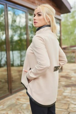 Lux Look: Кардиган Матрешка с кожей 445 - главное фото