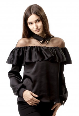 Salma. Блуза-рубашка. Артикул: Вуаль