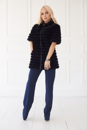 Lux Look. Шуба короткая Норка 75 см. Артикул: Versace 140