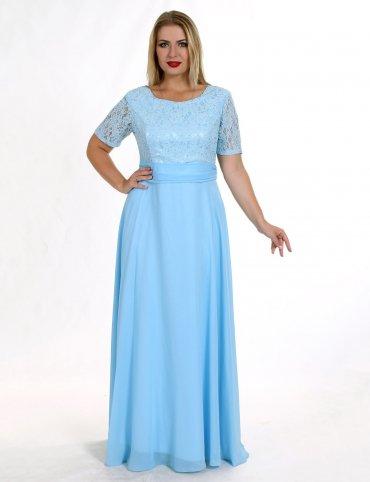 Enigma. 7 Платье вечернее в большом размере с гипюровым лифом. Артикул: G 0731A 7