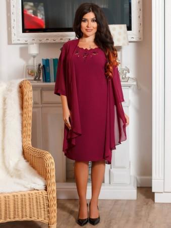 VOKARI. Костюм(платье+шифоновый кардиган). Артикул: 1597 (plus size)