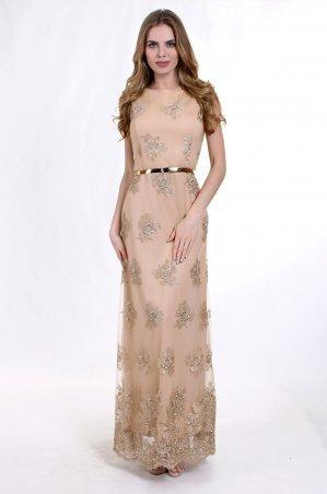 Enigma. Платье вечернее с золотым поясом. Артикул: G2118