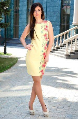 Velurs. Платье с цветочным принтом сбоку. Артикул: 211103