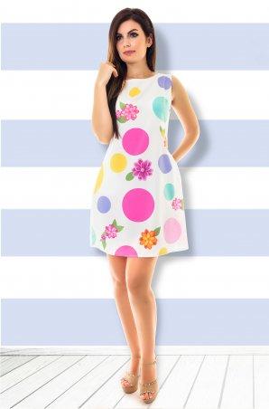 Velurs. Платье в яркий горошек и цветы. Артикул: 211117