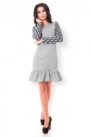 Velurs. Трендовое платье с принтом на рукавах. Артикул: 1136
