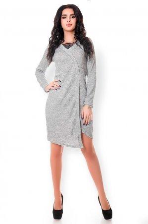 Velurs. Классическое стильное платье с гипюровой вставкой. Артикул: 1137