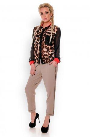 Velurs. Шифоновая леопардовая рубашка. Артикул: 6025