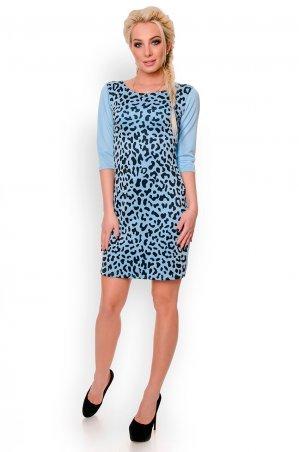 Velurs. Платье ровное с принтом Леопард. Артикул: 1147