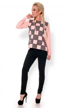 Velurs. Модная Блуза с абстрактным принтом. Артикул: 5142