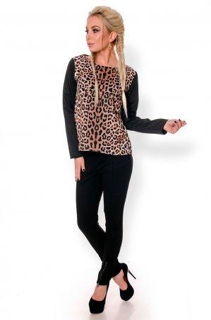 Velurs. Модная Блуза с леопардовым принтом. Артикул: 5140