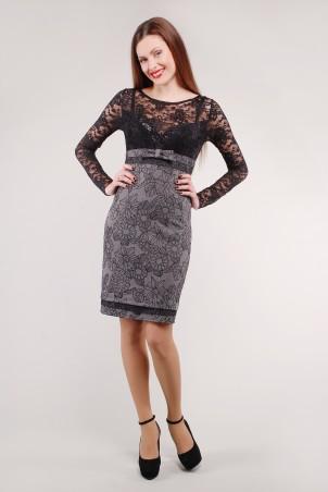 GHAZEL: Платье гипюр длинный рукав 10250 - главное фото