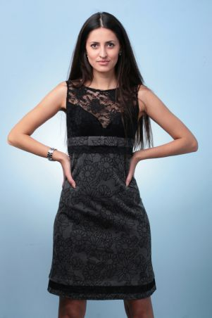 GHAZEL: Платье гипюр короткий рукав 10251 - главное фото