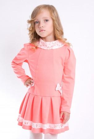 """Sofia Shelest: Детское платье """"Катрин"""" коралл О201412 - главное фото"""