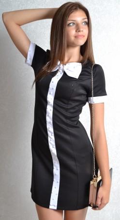 """TessDress: Офисное  женское платье с бантом  """"Бант"""" 1010 - главное фото"""