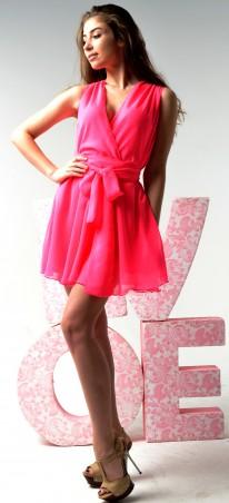 TessDress: Женское шифоновое платье с запахом «Изюминка» 1024 - главное фото