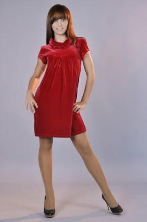 GHAZEL: Платье Велюр 10191 - главное фото
